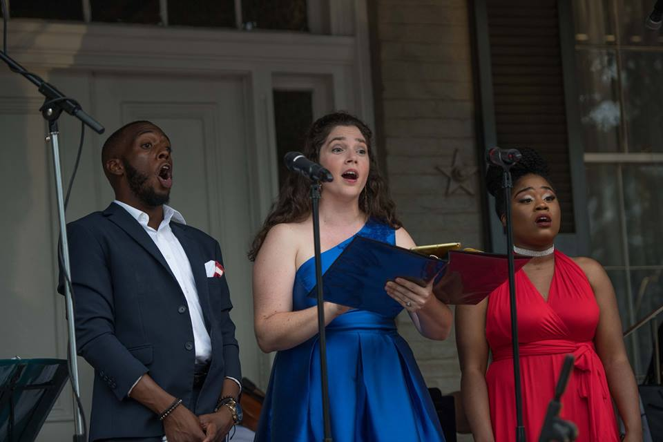 Christian Simmons (baritone), Melissa Chavez (soprano) & Candace Williams (soprano) perform as part of July 4 Festivities with the DC Strings Orchestra