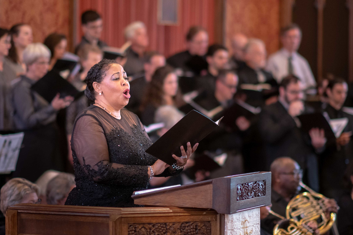 World renown soprano Detra Battle performs with the Messiah Chamber Orchestra - Jeffry Newberger, conductor April 28, 2019 / Kevin Kennedy - photographer