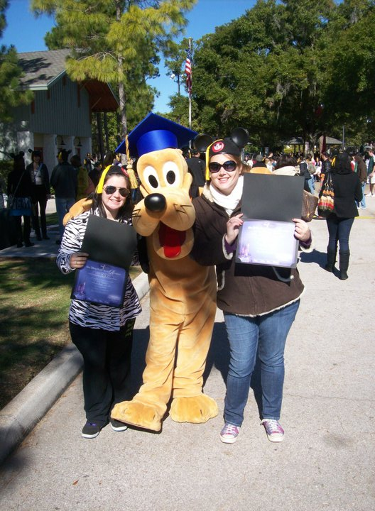I don't have any pictures from the inisde of Chatham, but this was taken at the DCP Graduation event at Mickey's Retreat.  That's me with one of my roommates from my first program holding our graduation diplomas.