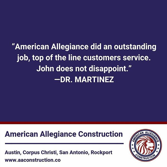 Thanks for choosing American Allegiance Construction!
