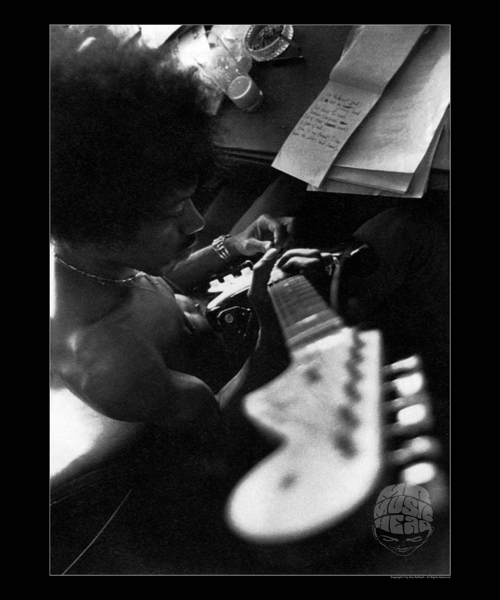 ron raffaelli_Jimi Hendrix_composing.jpg