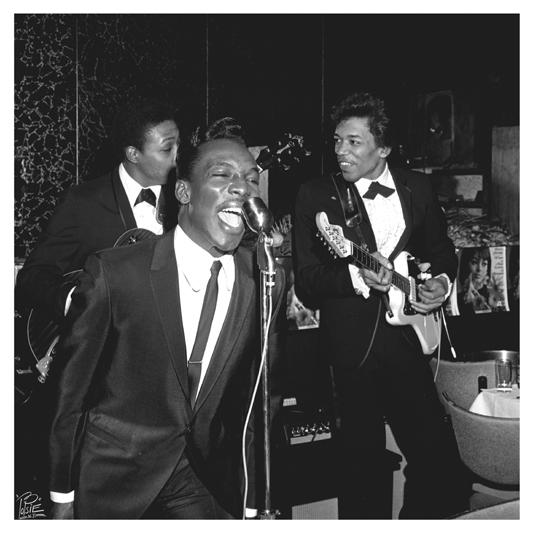 Hendrix & Wilson Pickett  091  -Atlantic Records promo party at Prelude Club NYC-   5-05-1966   .jpg