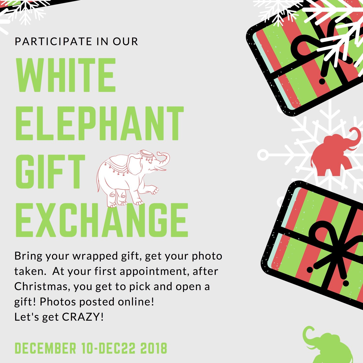 White Elephant Gift Exchange — Catalyst Physiotherapy, Performance ...