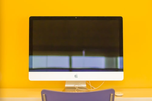 One of our iMacs with Adobe Photoshop.