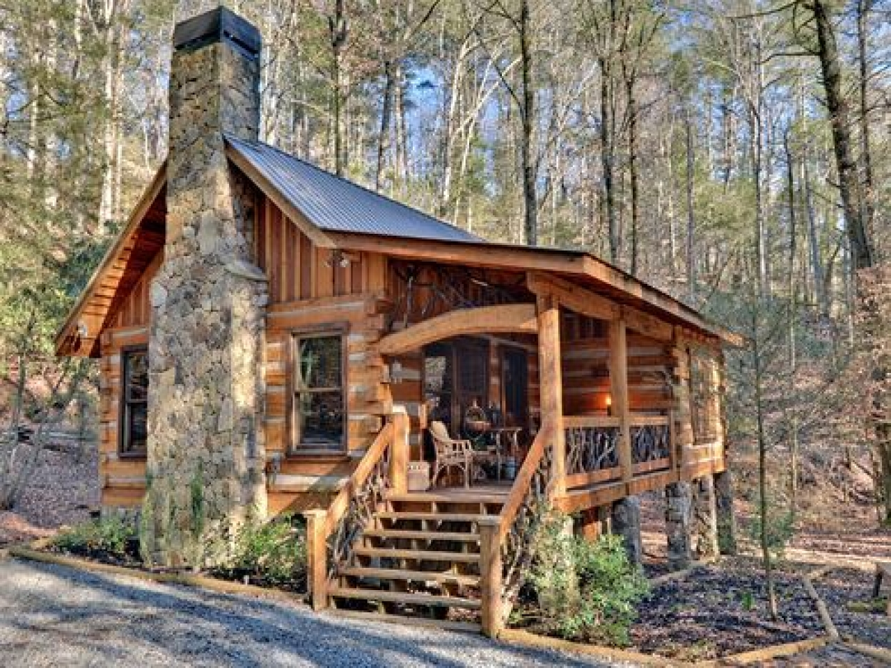 Hewed Log Cabin