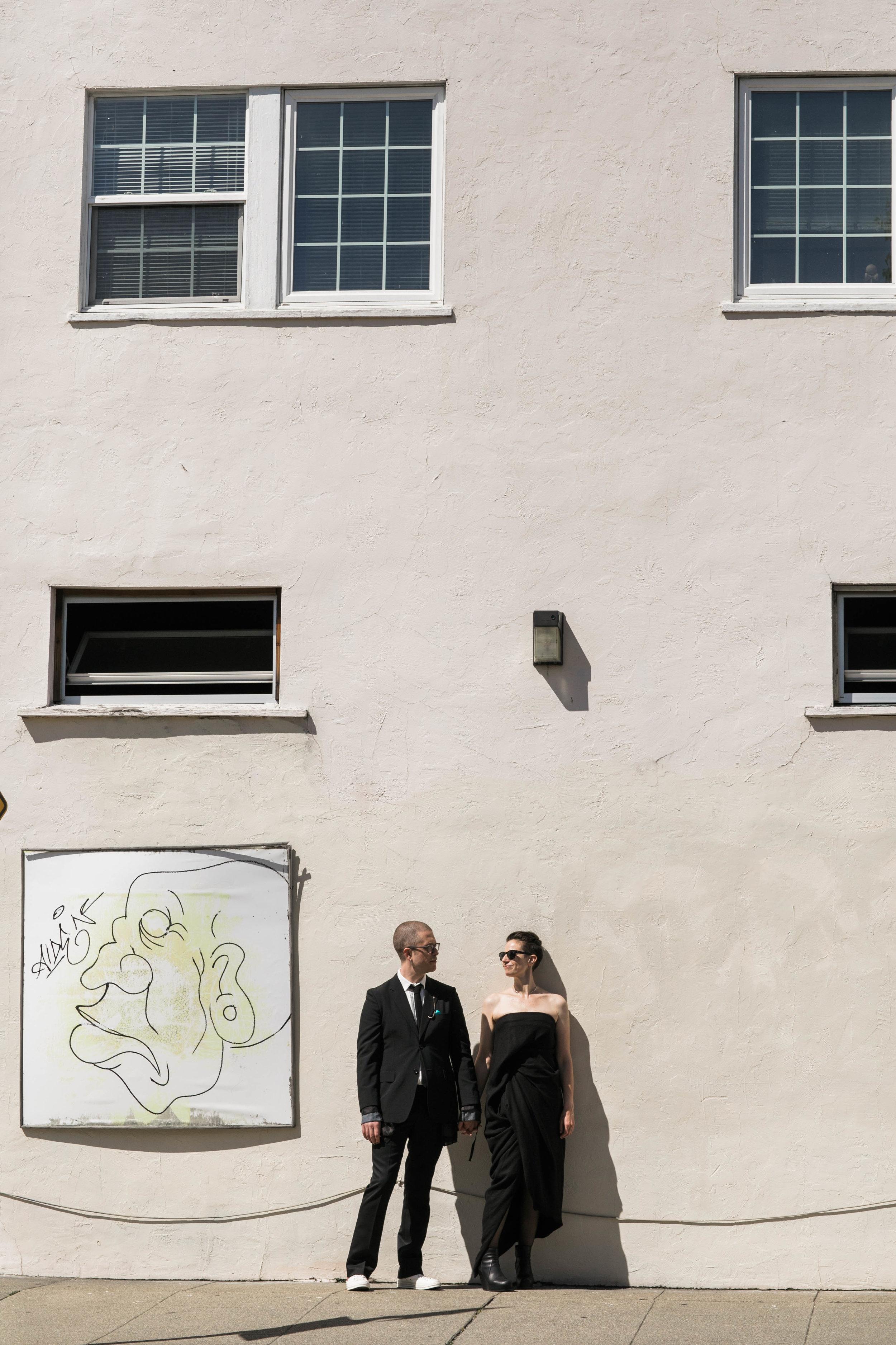 non-traditional oakland wedding