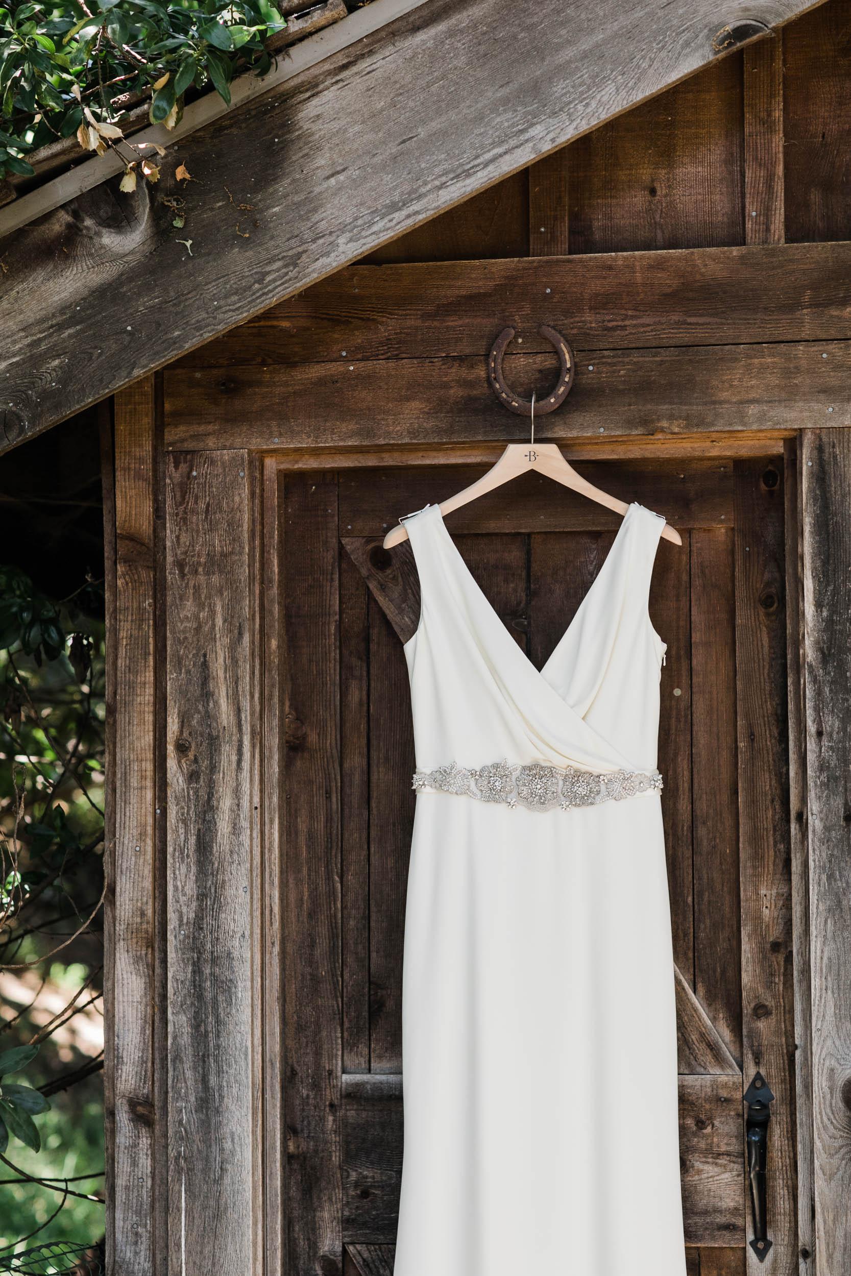 bhldn bridal gown Corkscrew Cafe Carmel Valley Wedding