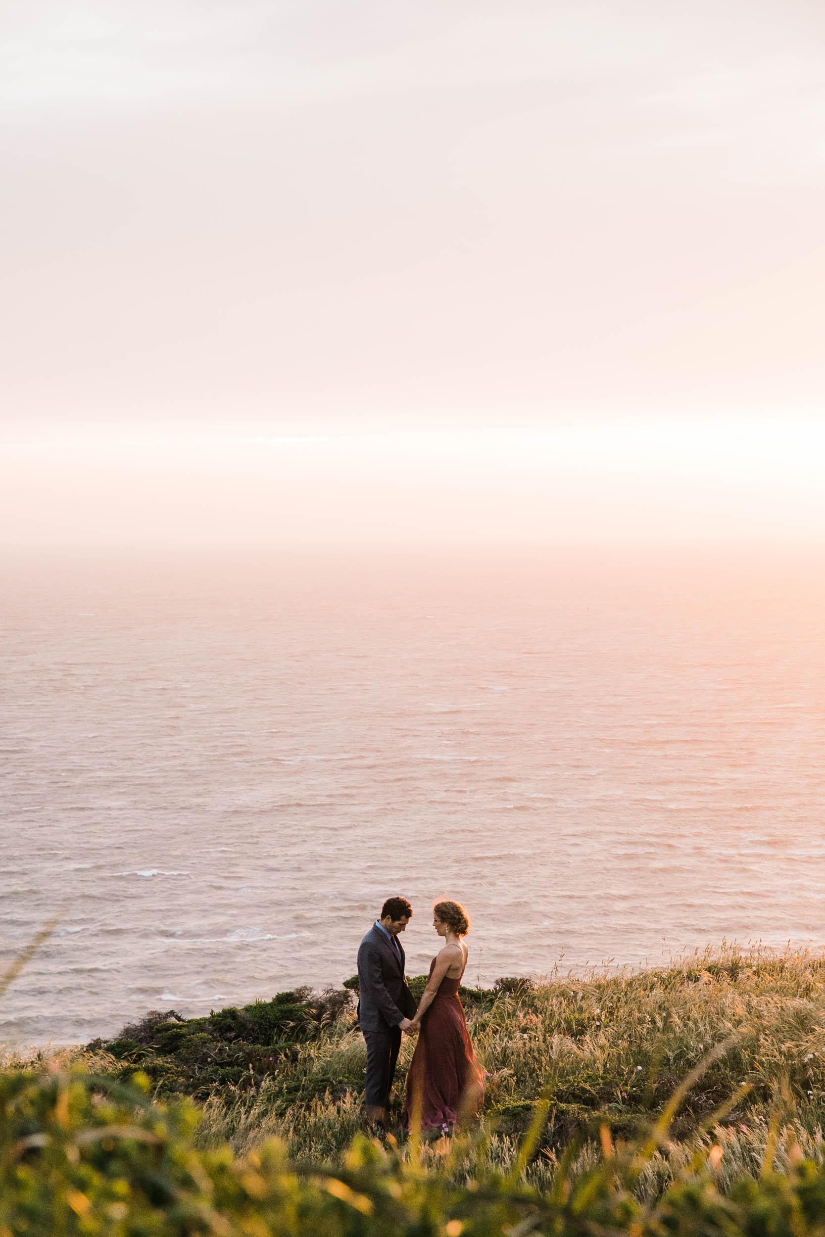 marin headland land sea adventure elopement