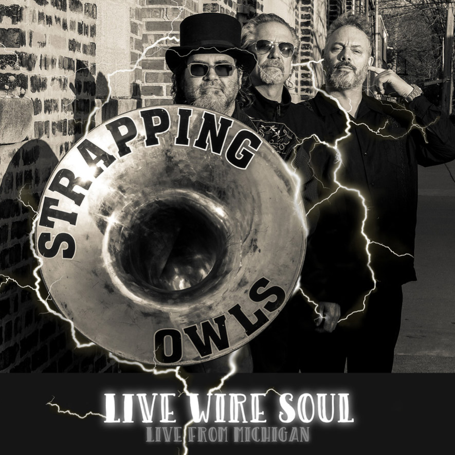 The cover image of our debut album,  Live Wire Soul.