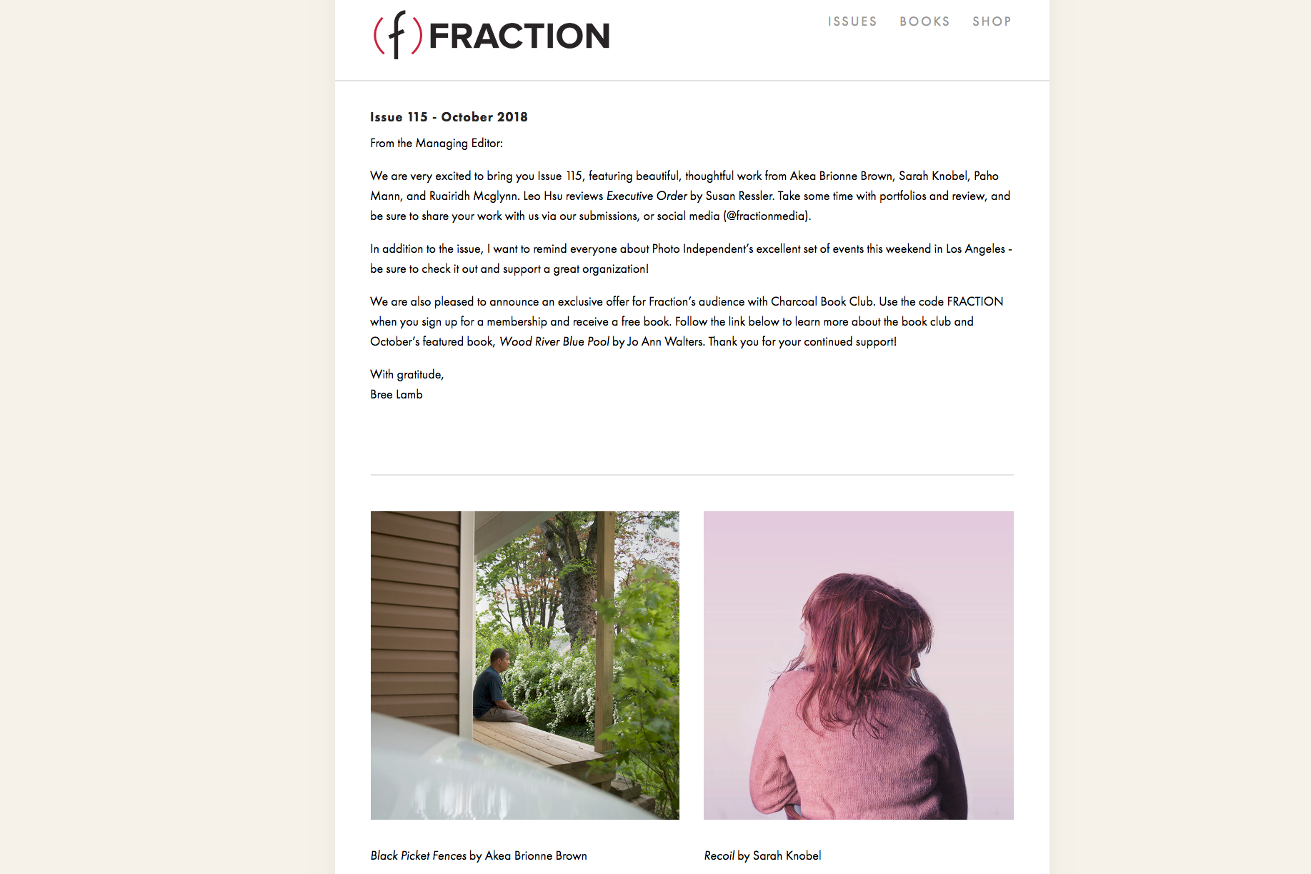Akea Brown on Fraction Mag