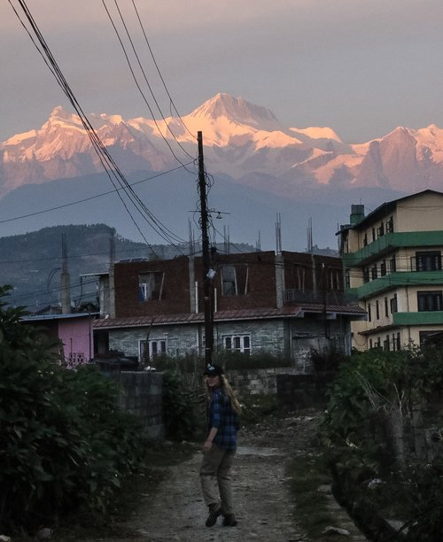 Wandering the back streets of Pokhara. After a kind Nepali lady let us stand in awe at the view from her rooftop, we were in search for another at sunset.