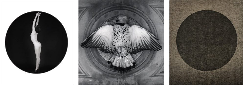 "(L)   Melody  , 1989. Gelatin silver print; 20 x 16"" (50.8 x 40.6cm); Edition of 10, 3 AP (C)  Northern Flicker , 1991. Gelatin silver print; 24 x 20"" (61 x 50.8cm); Edition of 10, 2 AP (R)  Untitled, No. 973 , 2008. Gelatin silver lith print; 20 x 16"" (50.8 x 40.6cm); unique"