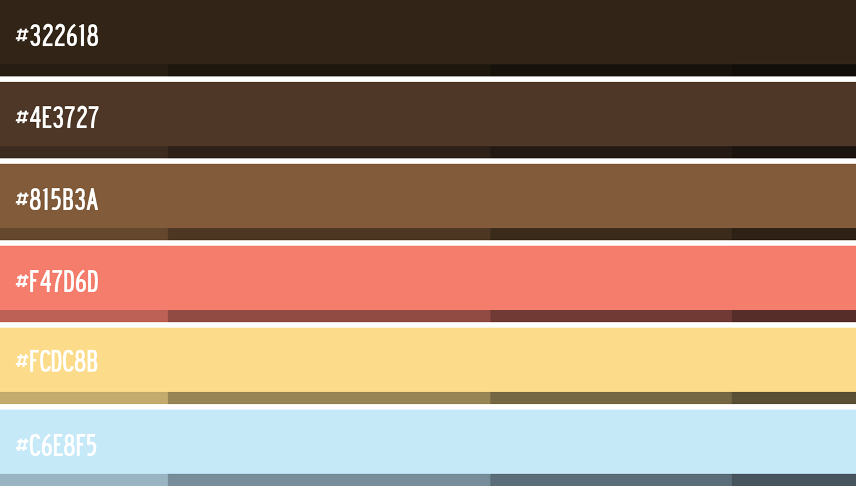 FIG.3: Color palette & Hexadecimals