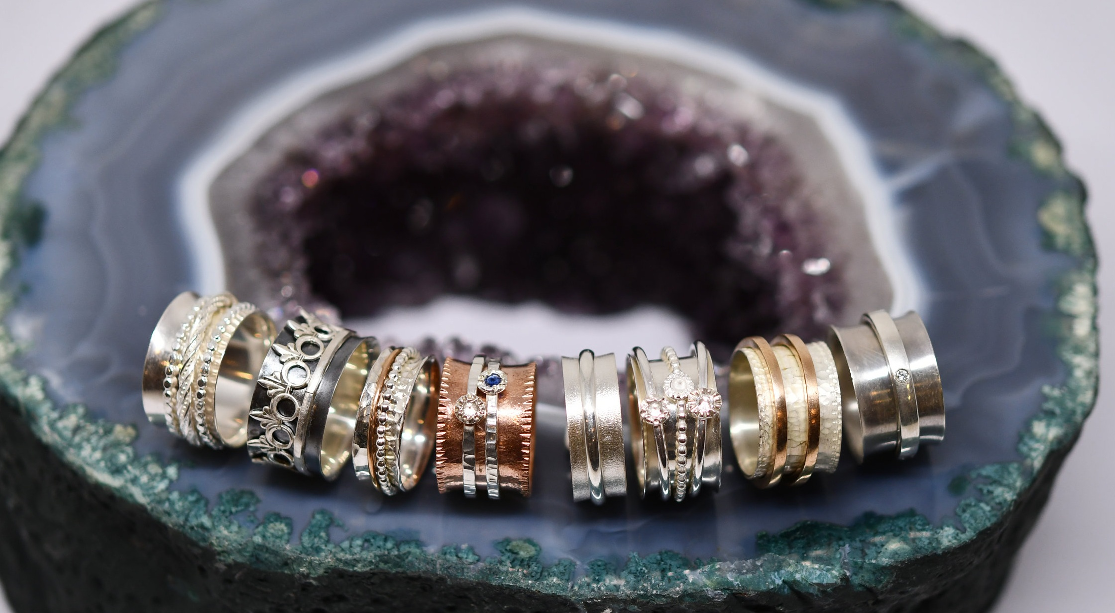 Student spinner ring samples from week 2