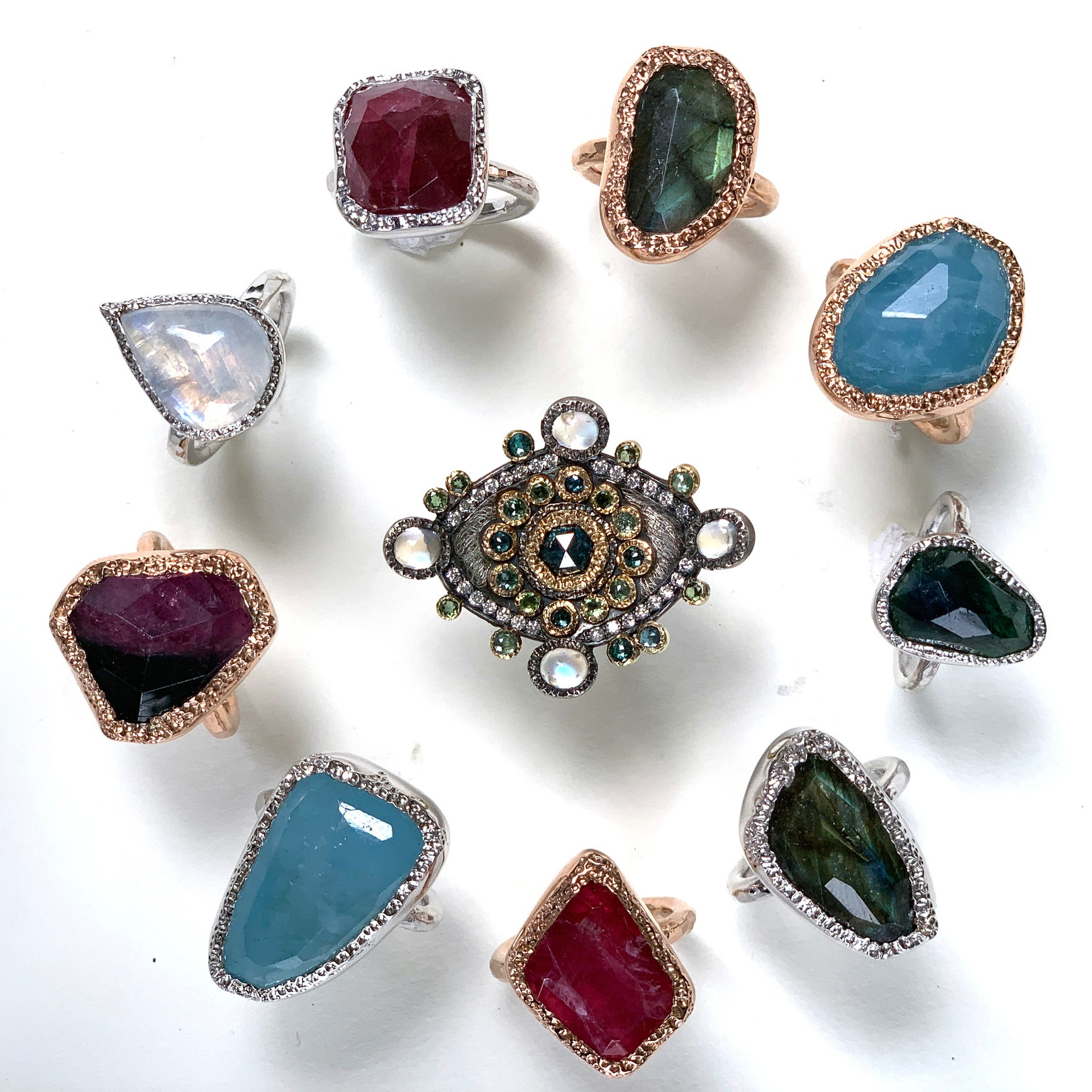 Stone Setting Fancy Bezels - Get a little more creative with your bezels as we learn to make chunky textured bezels, jump ring bezels and fancy shaped bezels