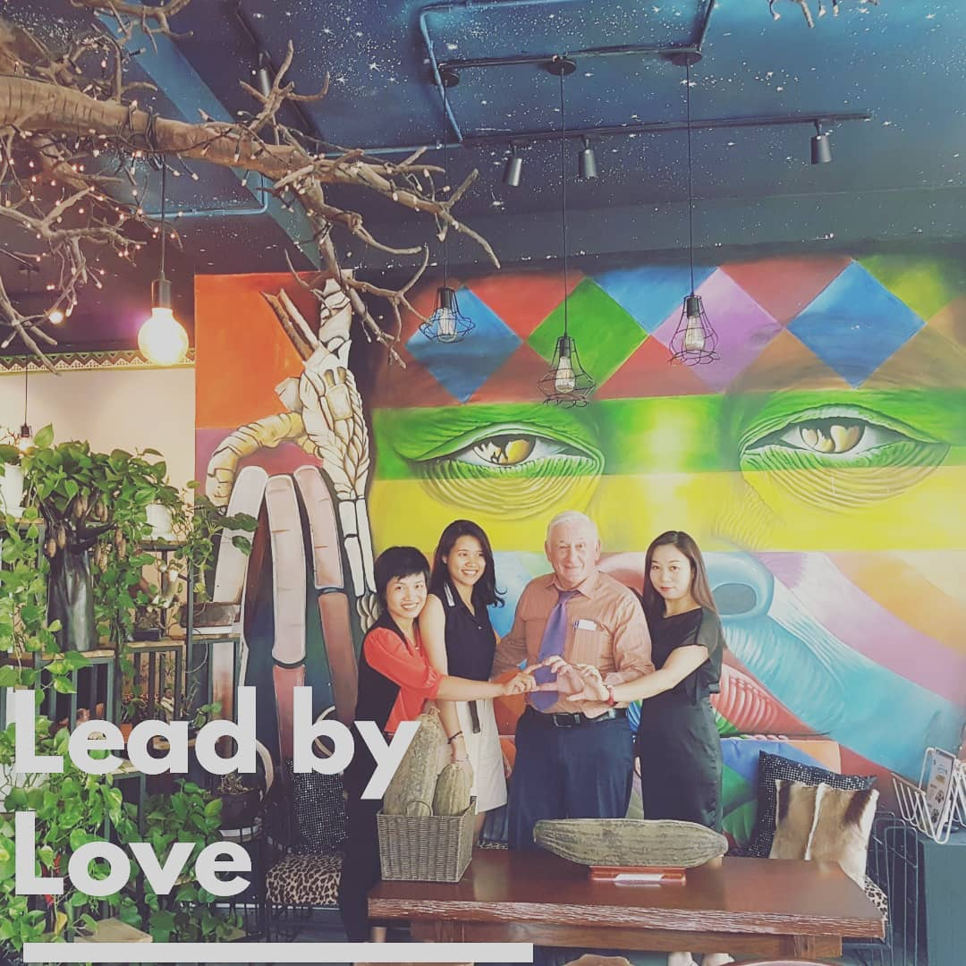 Partnership with David, the  author  of 'Women Leadership through love'