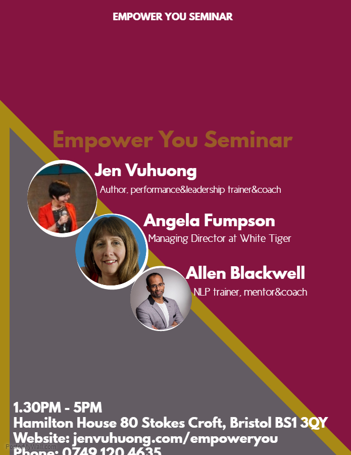 """Founder  and Trainer of """" Empower You seminar""""  in the UK"""