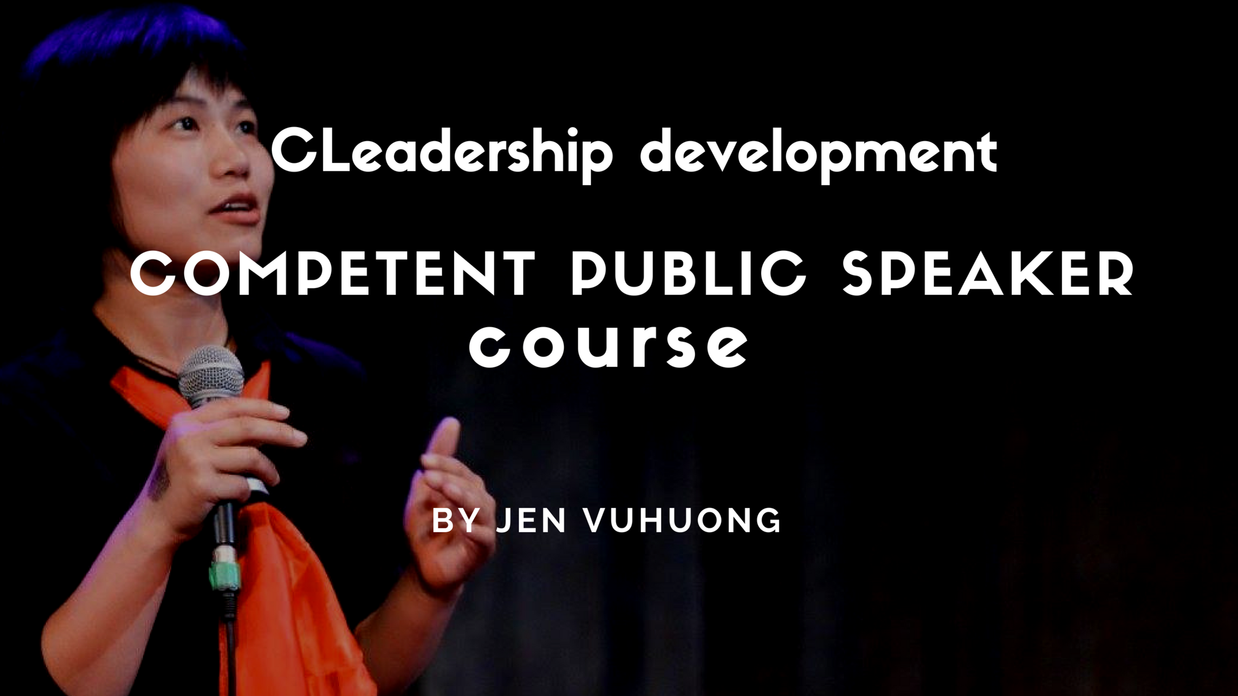 Mindset + tools + strategies to embrace your speaking identity as a competent speaker/communicator/leader  (Based on Jen's speaking journey over the last decade in more than 10 countries, winning first prize in the US Embassy, International public speaking contest in Malaysia, Vietnam)