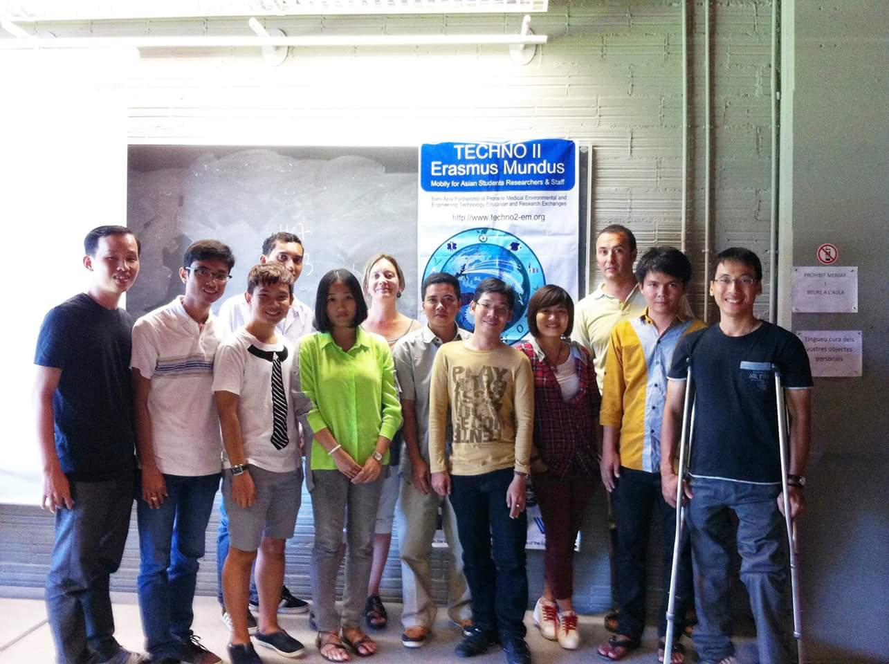 With other Erasmus scholars