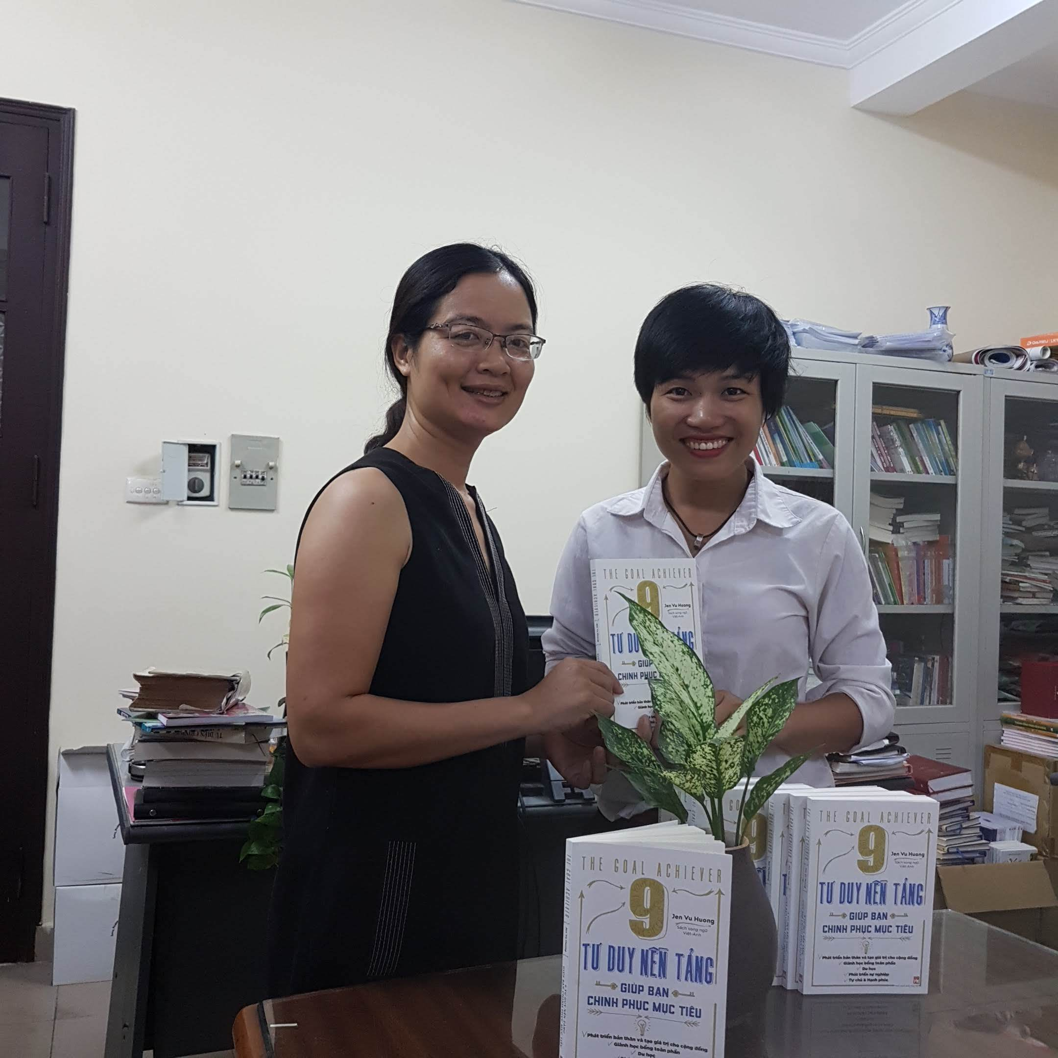 At Women's publishing House - receiving the printed books!