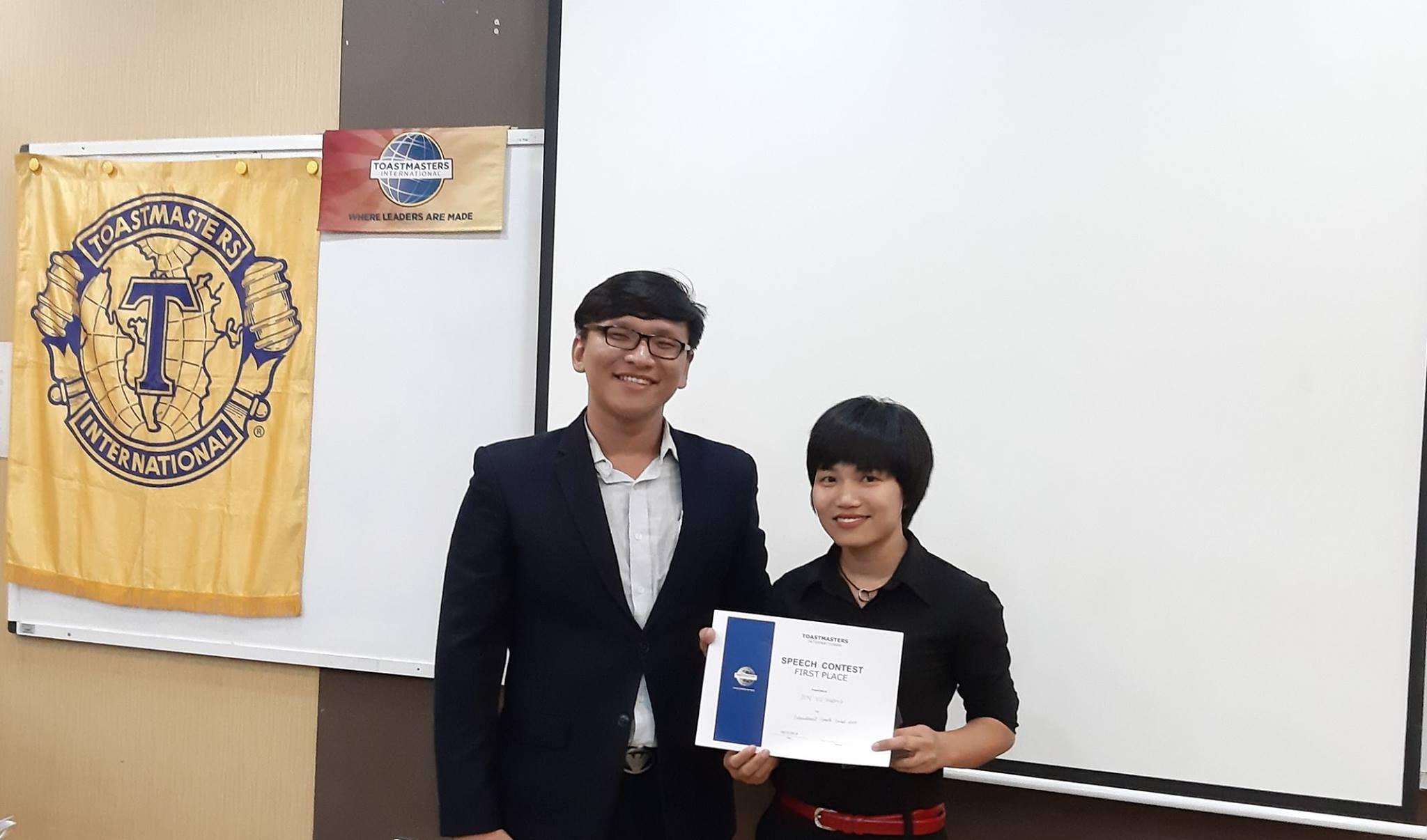 Vietnam representative  -  Champion  of International Public speaking 2019