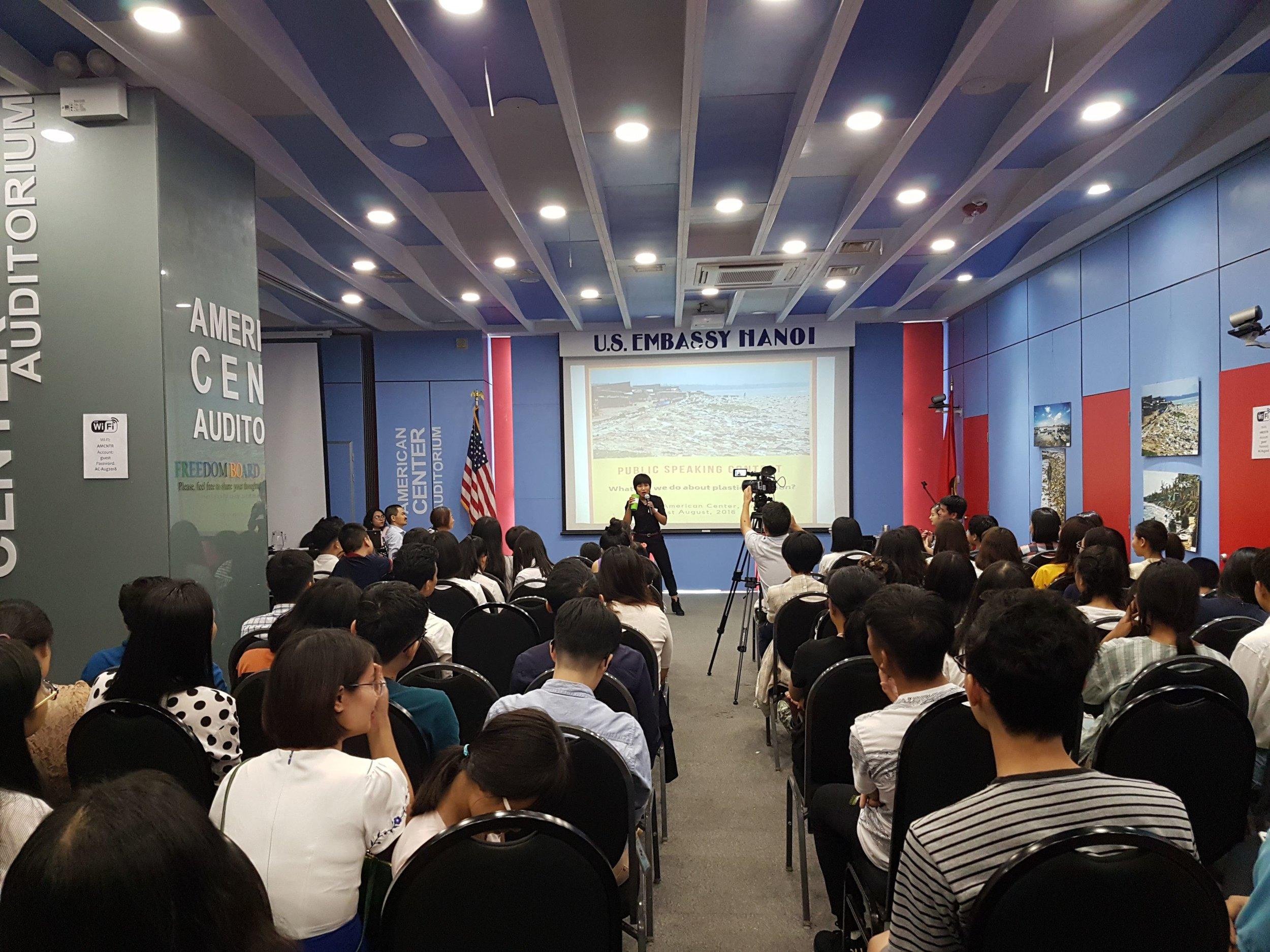 US Embassy  speaking contest Winner