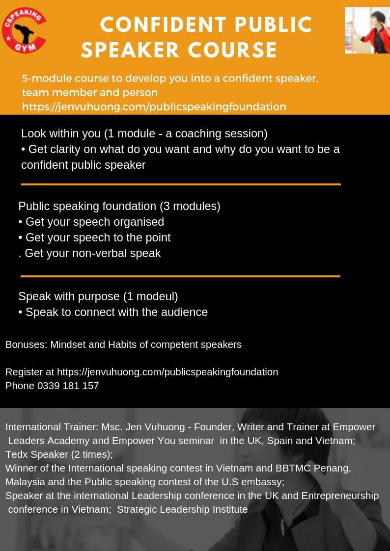 To empower  confident speakers