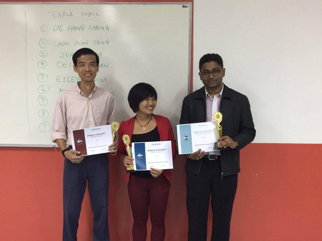 Champion  speaker of BBTMC Malaysia