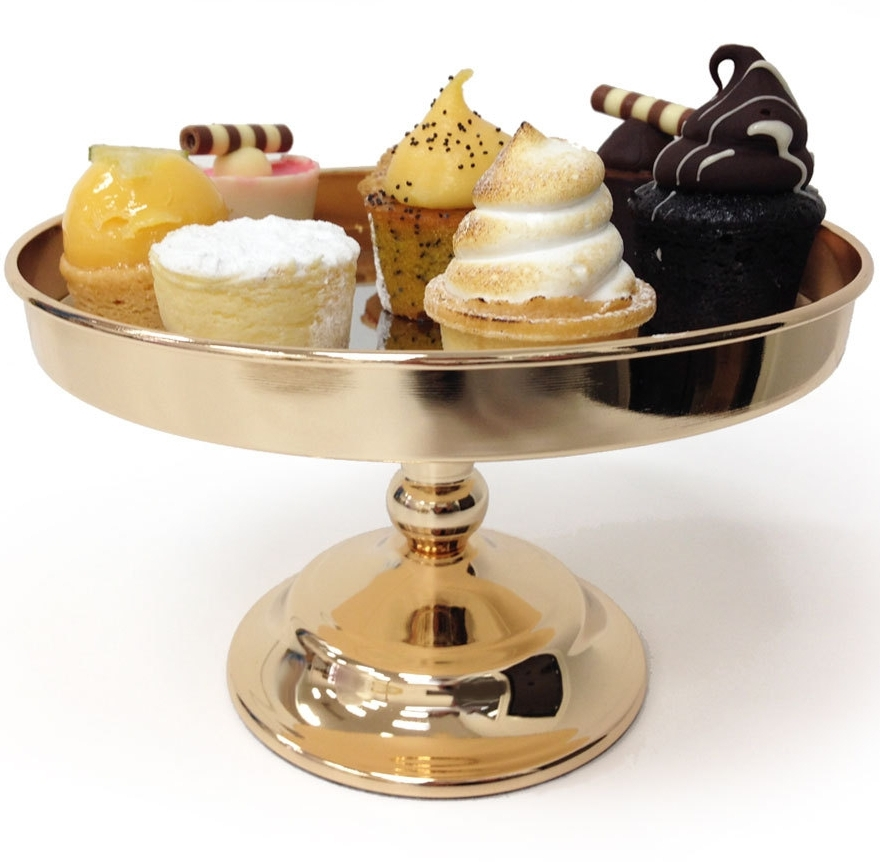 LUXE GOLD CAKE STAND 20CM - 2 x available for hireDimensions : 20cm Diameter x 13cm High