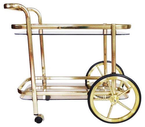 LUXE GOLD BAR TROLLEY - 1 x available to hiredimensions : 74cm High x 47cm wide x 73cm long