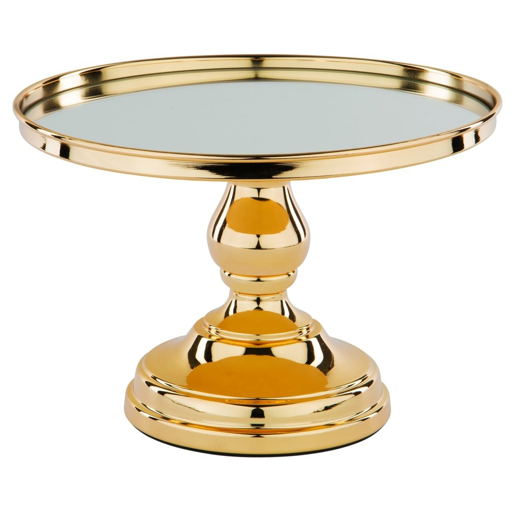 LUXE GOLD CAKE STAND 25CM - 2 x available in stockDimensions : 25cm diameter x 18cm High