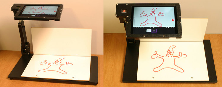 ReadyANIMATOR iPad animation stand in 2D animation position