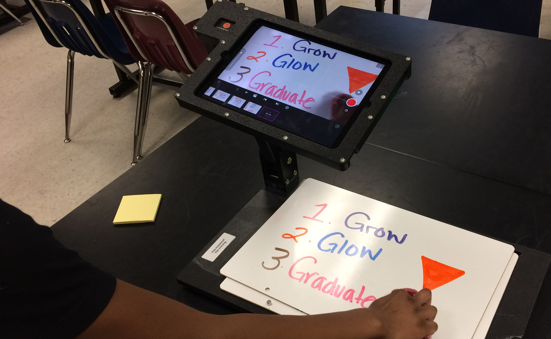 Students in a middle school after school program used ReadyANIMATOR to create animations about their career dreams; techniques included dry-erase animation and clay animation.