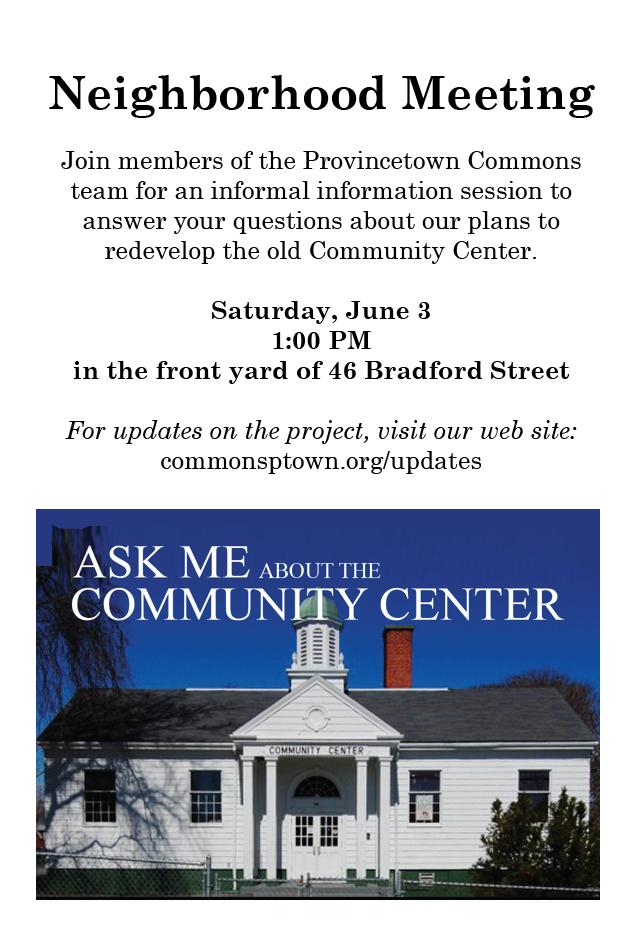 neighborhood meeting postcard