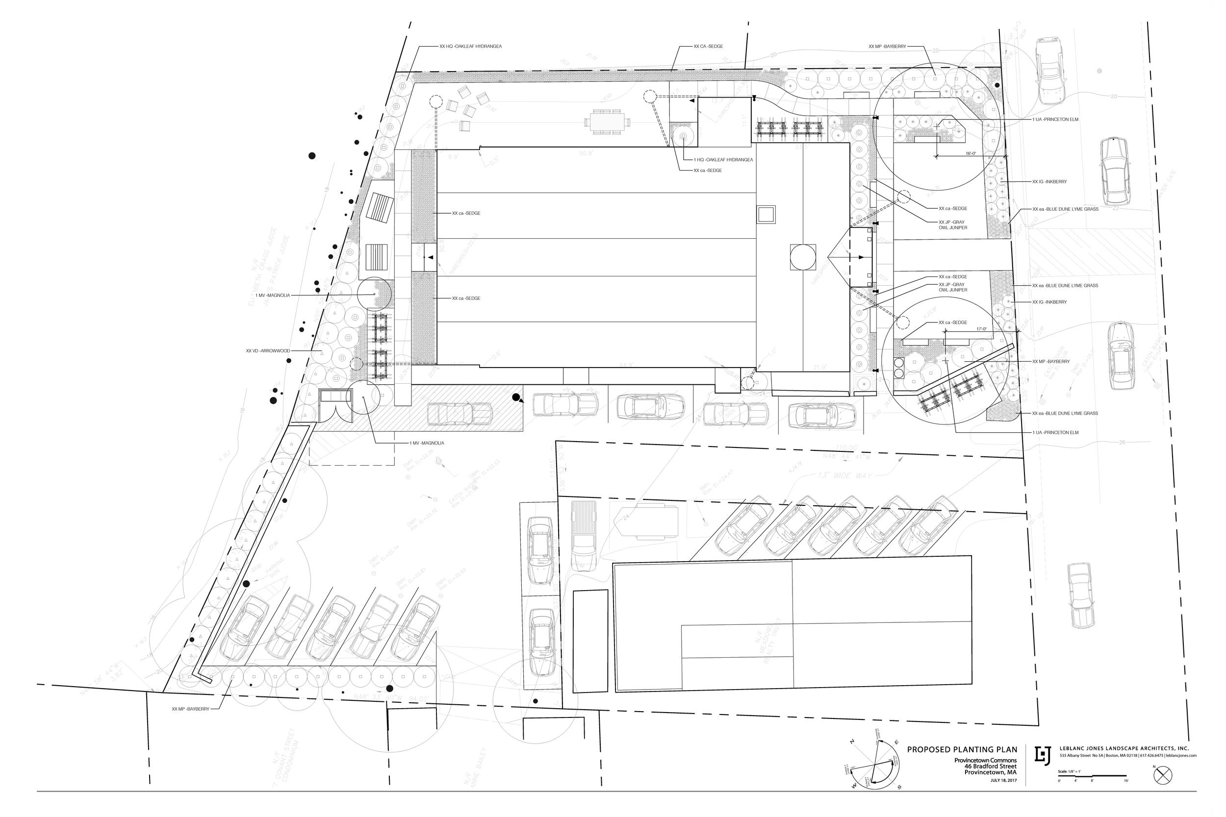 Proposed Planting Plan