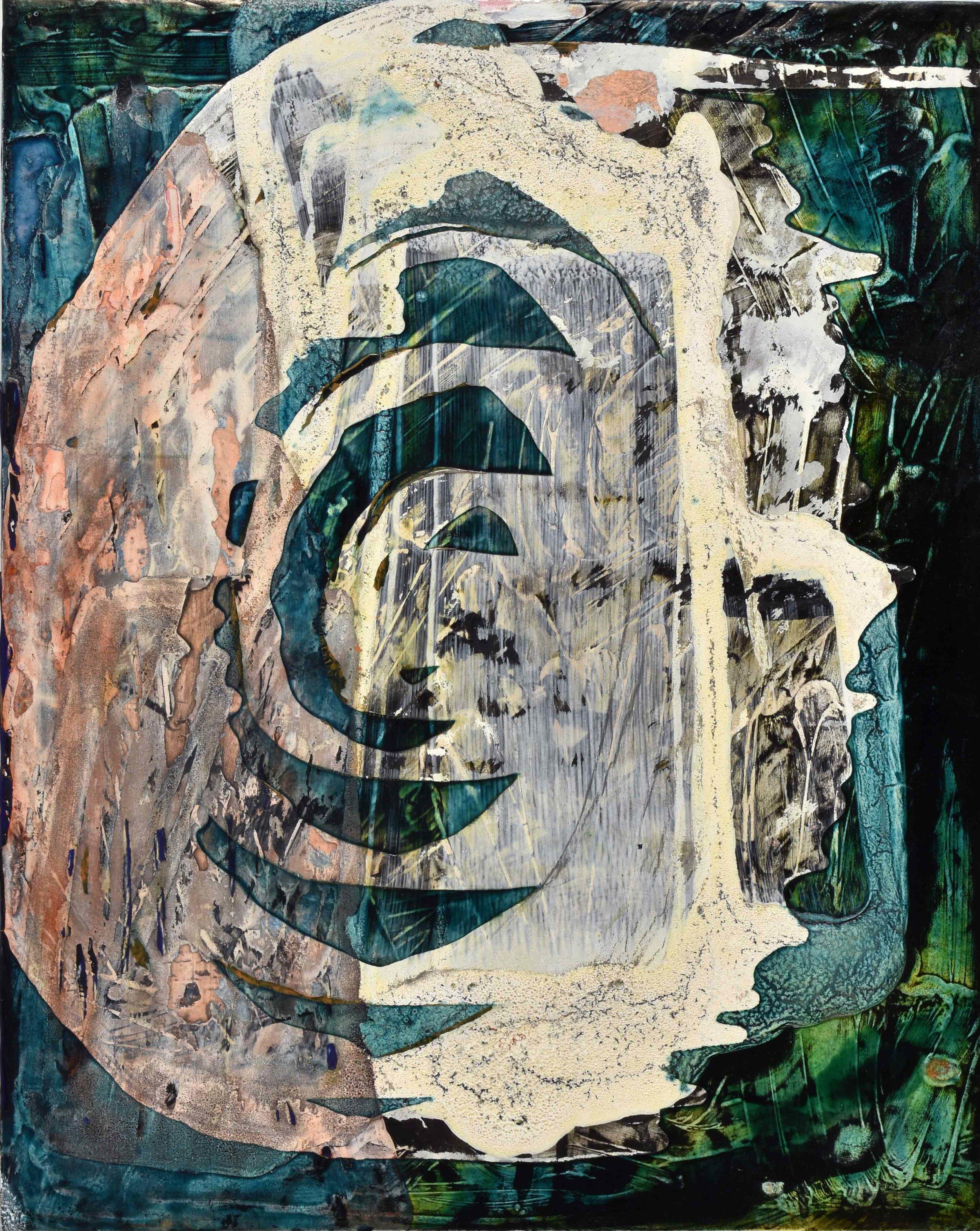 "Swirling 'Scape 3_2017   acrylic  20"" x 16""  2017"