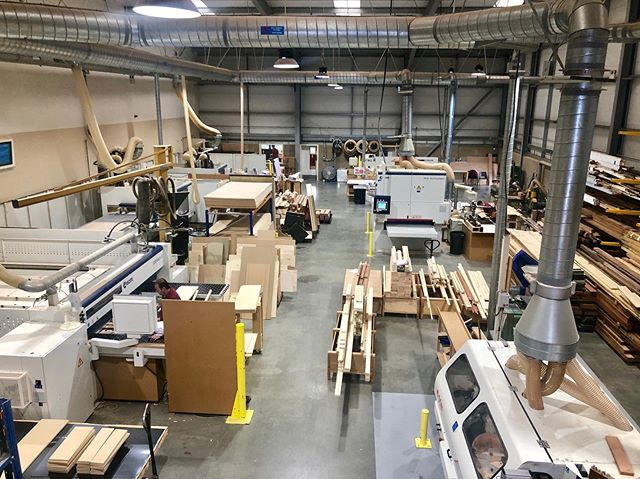 """Welcome to our Mill, which features state of art SCM machinery, to name a few, we have 2 Accord-25 fx and fxm CNC""""s, 1 DMC Super finishing Sander, 1 si300-Nova panel saw, 1 Gabbiani S beam saw. We also have full in-house veneering facilities, to include Italpress veneer press and kuper stitcher which enables us to control all elements of quality . . . #tekneshopfitting #shopfitting #joinery #bespokejoinery #timber #timbermill #machineshop #veneering #cabinetmakers #bespokeinteriors #restaurantinteriors #marquetry #workshop #woodworking #madeinengland #poole #kitchenmanufacturer"""