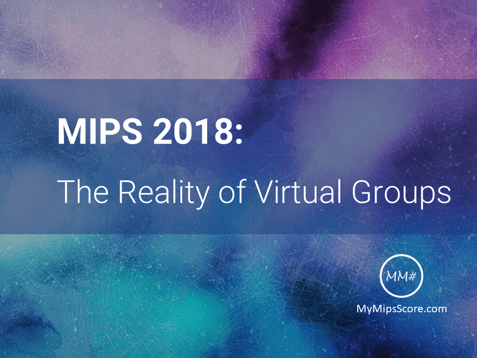 "Starting from 2018, there will be a third option available to individuals and small groups called the ""Virtual Group"". Read more about the formation, reporting requirements, and scoring considerations of Virtual Groups."