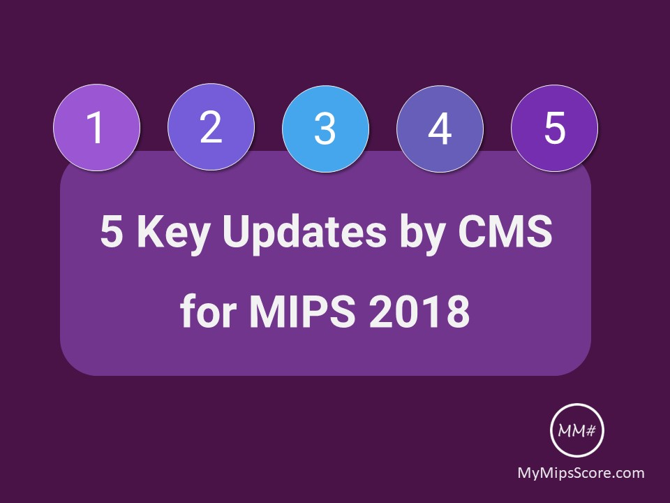 5 Key Updates by CMS for MIPS Performance Year 2018