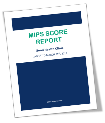 MIPS Score Report serves as your MIPS strategy guide and also as your MIPS audit support document.