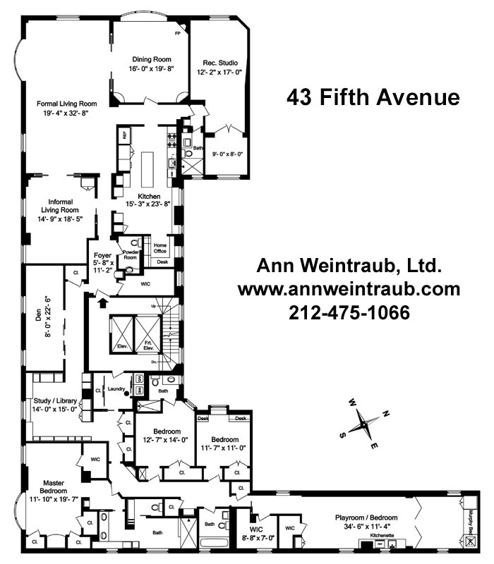 43 Fifth Avenue 5th Floor Floor Plan
