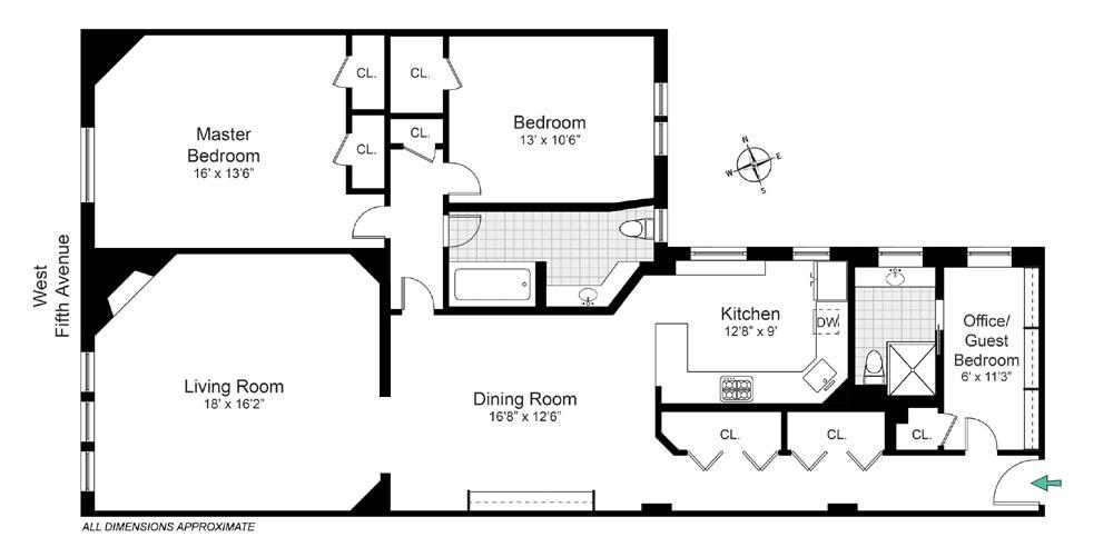 43 Fifth Avenue Apt. 10NW Floorplan