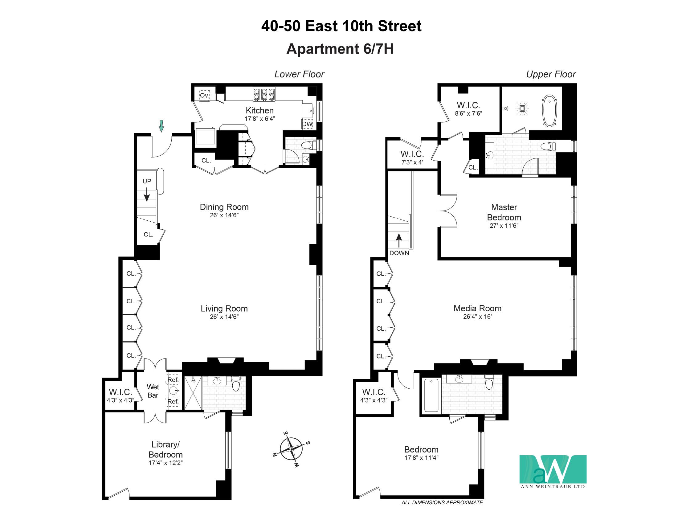40-50 East 10th St, Apt. 6/7H Floorplan