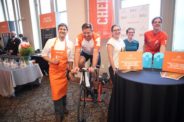 Team Agricole raising money for Chefs Cycle at the 2016 Taste of the Nation