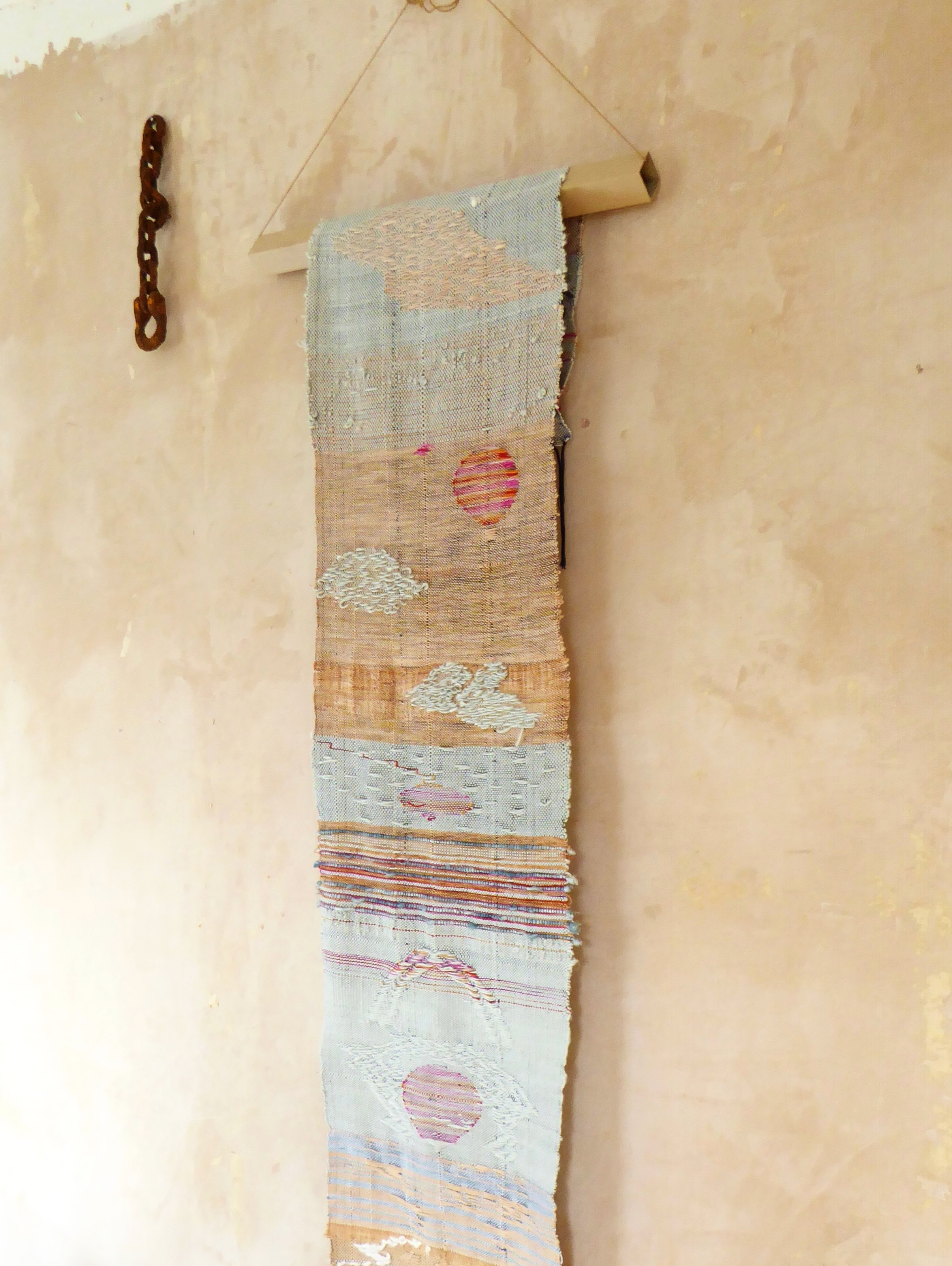 IN THE CLOUDS, onion dye and woad, ethical silk and cotton