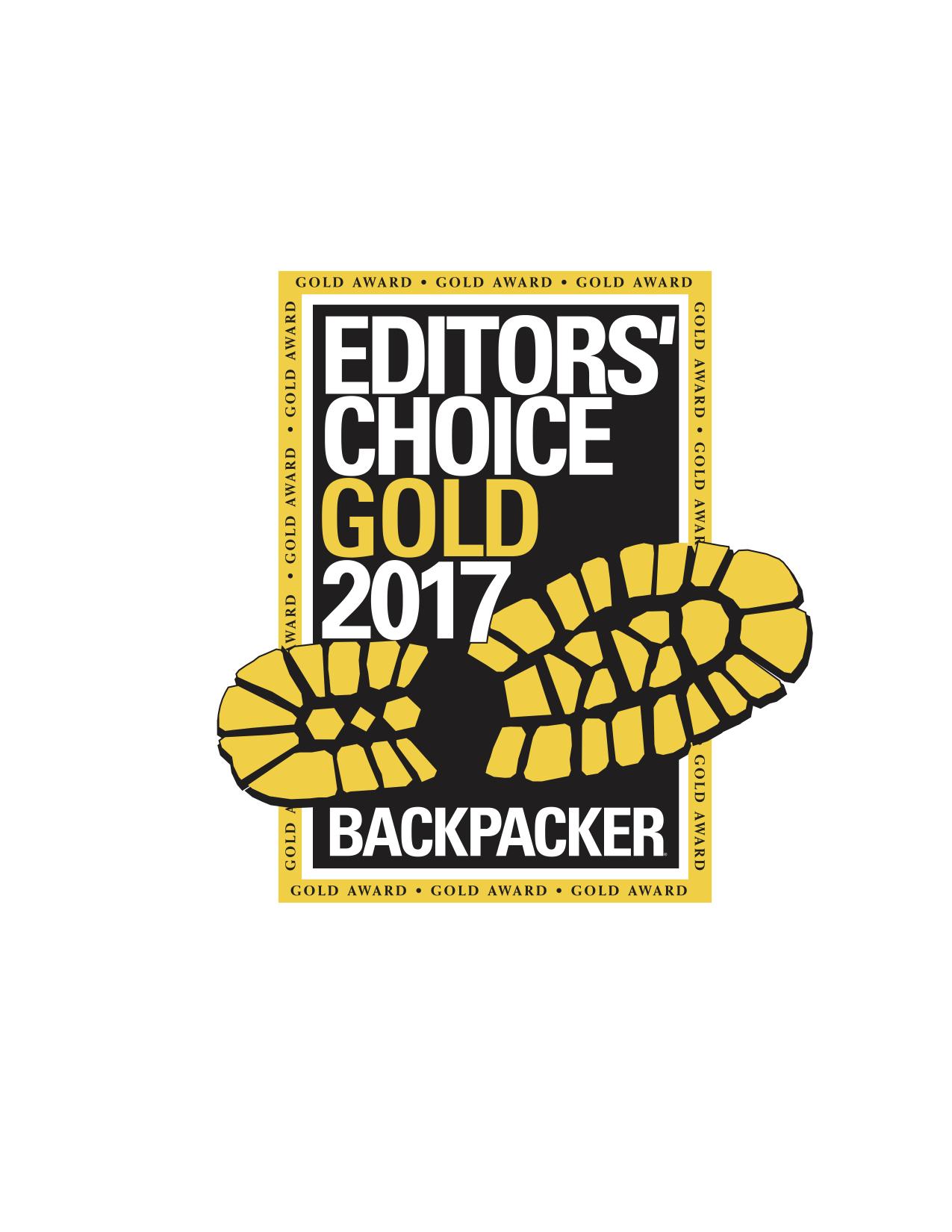 Backpacker Editor's Choice Award (Gold)