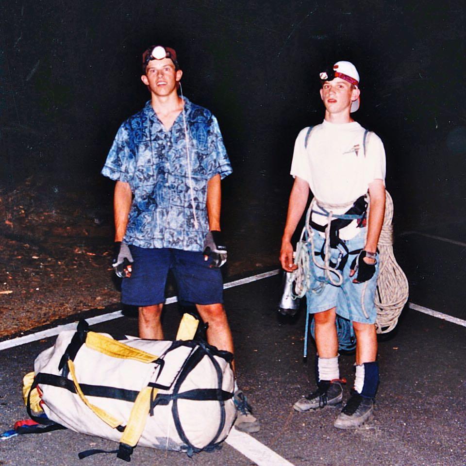 climbing el cap with brother morgan - ages 16 and 13 - photo steve mcnamara.jpg