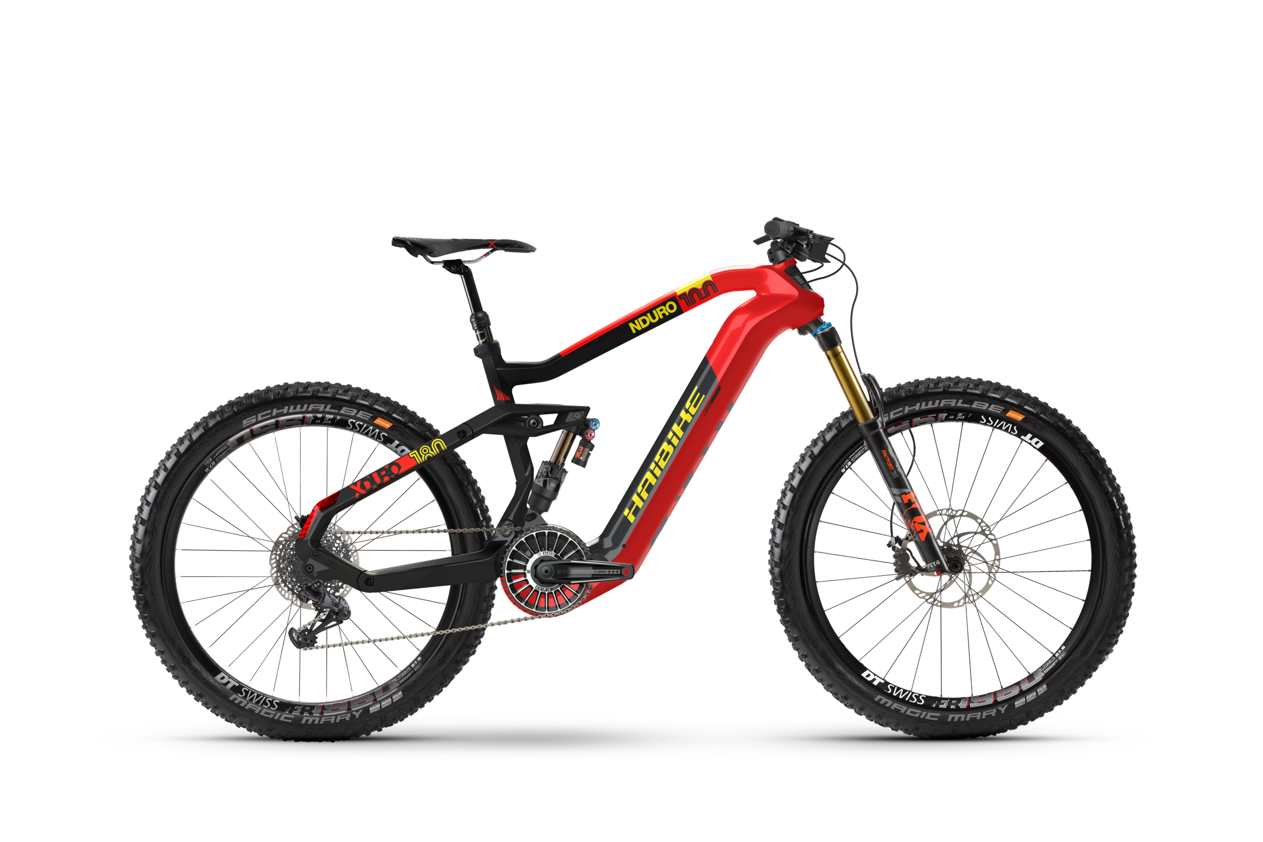 Pictured: The NDURO 10.0 model from Haibike's all-new line of 2019 FLYON bikes.