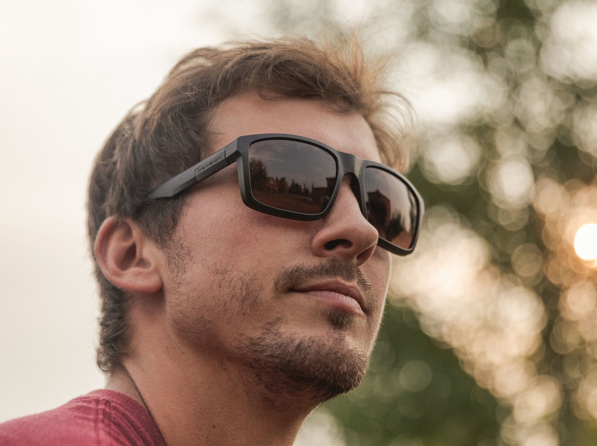 The Revision Seeker™ shown in mountain shadow frame and cedar lens tint.