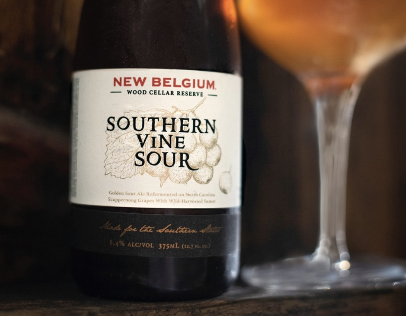 Golden sour refermented on North Carolina Scuppernong grapes & Wild Sumac berries